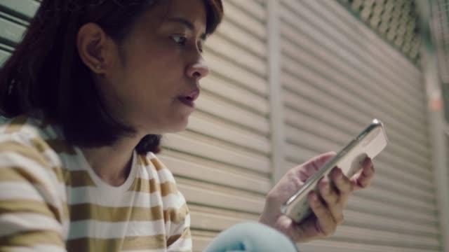 asiatische frau stress - ende stock-videos und b-roll-filmmaterial