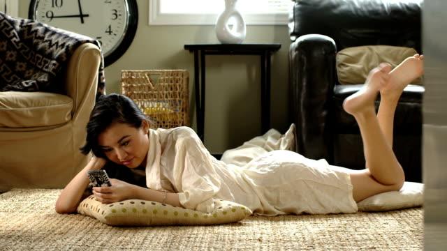 Asian Woman texting