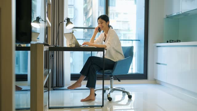 asian woman working at home - only japanese stock videos & royalty-free footage