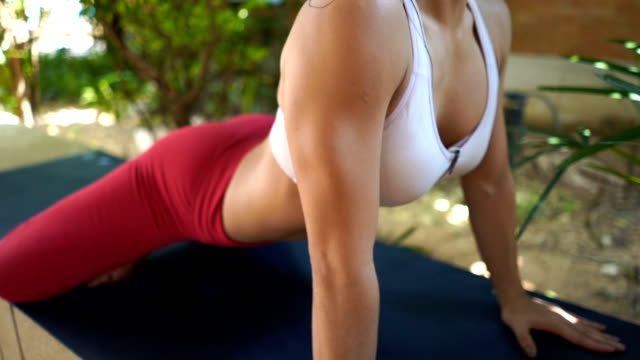 asian woman workout yoga and pilates - bra stock videos & royalty-free footage