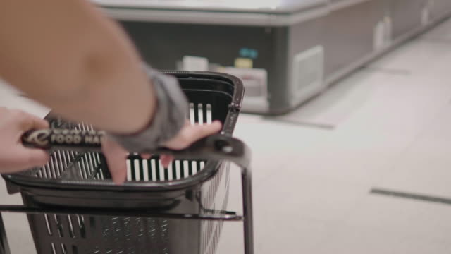 asian women go shopping in the supermarket. - label stock videos & royalty-free footage