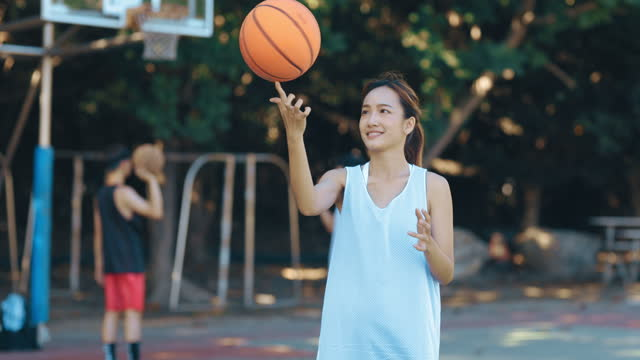 asian women playing basketball - 20 24 years stock videos & royalty-free footage