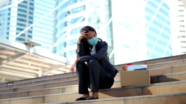 asian women unemployment in the covid virus crisis 19 - despair stock videos & royalty-free footage