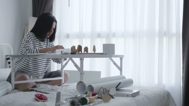 Asian Women Working at home
