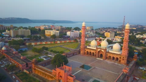asia's biggest mosque: aerial footage - india stock videos & royalty-free footage