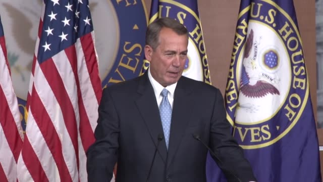 asked about the rightwing of his caucus house speaker john boehner of ohio the premise of your question i would take exception to - speaker of the house stock videos and b-roll footage