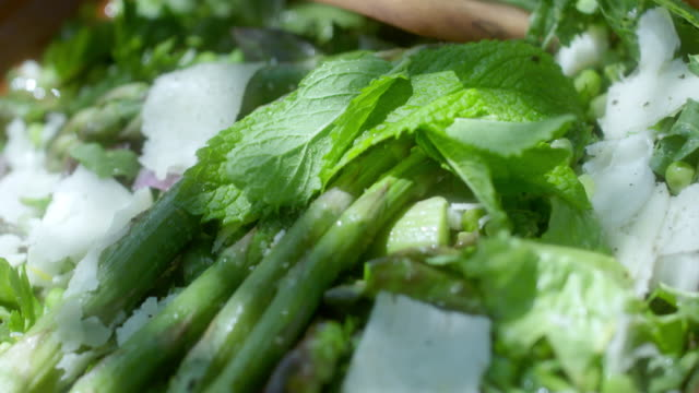 asparagus salad - parmesan stock videos & royalty-free footage