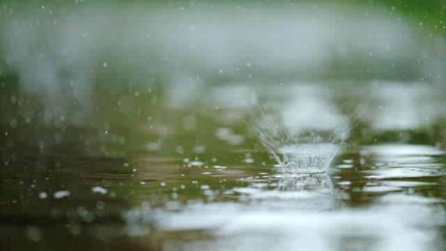 vidéos et rushes de slo mo asphalte sous la pluie - pluie diluvienne