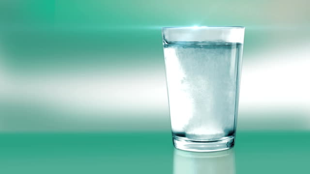 aspirin in a water glass-green - aspirin stock videos & royalty-free footage
