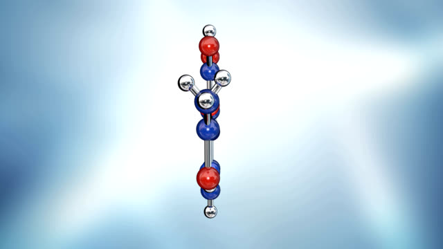 aspirin molecule - biomedical animation stock videos & royalty-free footage