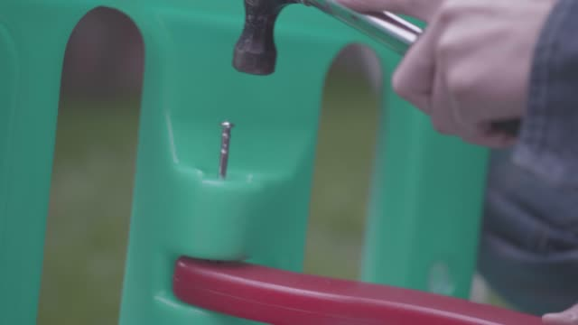 assembling slide at home garden - model kit stock videos and b-roll footage