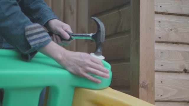 assembling slide at home garden