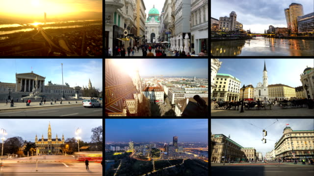 montage vienna - composite image stock videos & royalty-free footage