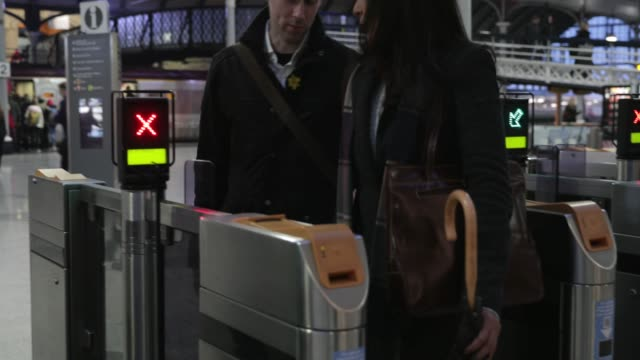 assistance through the train station - visual impairment stock videos & royalty-free footage