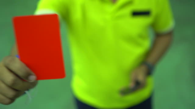 vidéos et rushes de arbitres assistants lors d'un match de football - arbitre