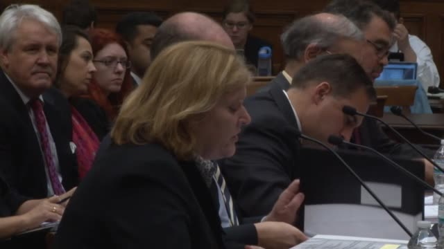 assistant secretary anne c richard at the bureau of population refugees and migration seeks to reassure members of a house subcommittee that refugees... - zoll und einwanderungskontrolle stock-videos und b-roll-filmmaterial