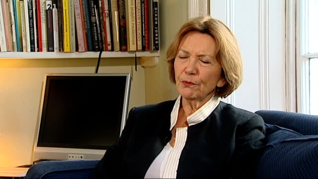 assisted suicide shown on television; int joan bakewell interview sot - joan bakewell stock videos & royalty-free footage