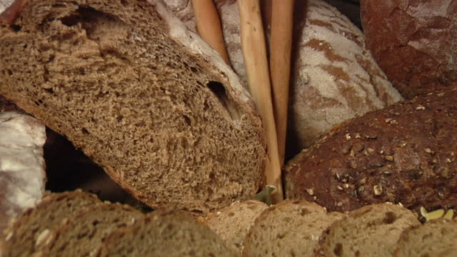 cu, zo, assorted bread - large group of objects stock videos & royalty-free footage
