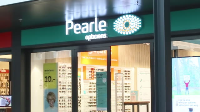 assorted interior and exterior shots of pearle opticiens store in amstelveen north holland netherlands on wednesday july 1 2020 - large group of objects stock videos & royalty-free footage