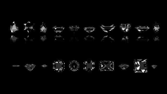 Assortimento di taglio di diamante