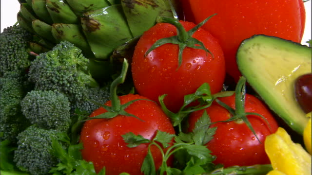 cu assortment of fresh vegetables / orem, utah, usa - bordsyteinspelning bildbanksvideor och videomaterial från bakom kulisserna