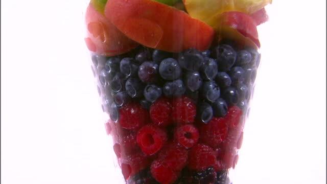 CU ZO MS Assortment of fruit in vase / Orem, Utah, USA