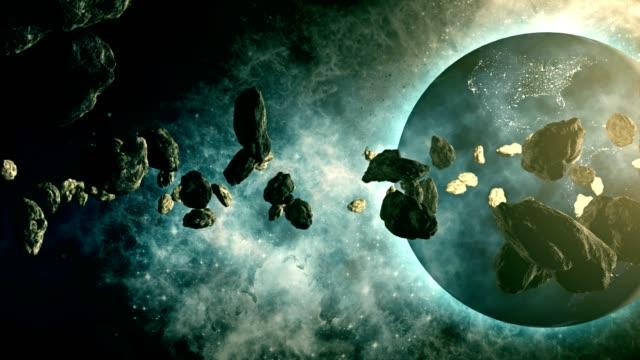 asteroidengürtel umkreist planet erde - astronomie stock-videos und b-roll-filmmaterial