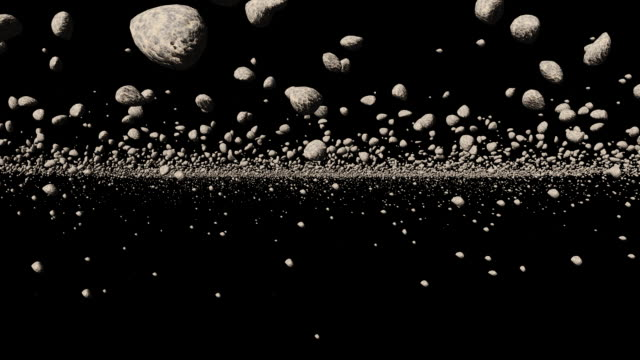 asteroid field 3d - matte image technique stock videos & royalty-free footage