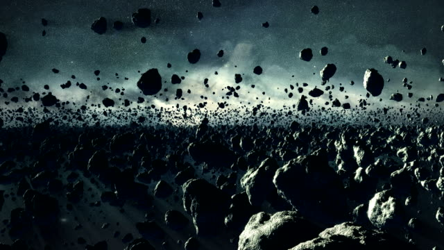 asteroid field - fantasiewelt stock-videos und b-roll-filmmaterial
