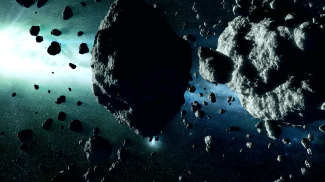 asteroid field - meteor weltall stock-videos und b-roll-filmmaterial