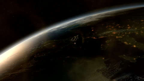 asteroid impact in europe - impact stock videos & royalty-free footage