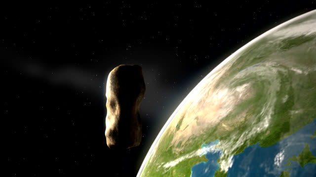 asteroid over earth – northern hemisphere - impact stock videos & royalty-free footage