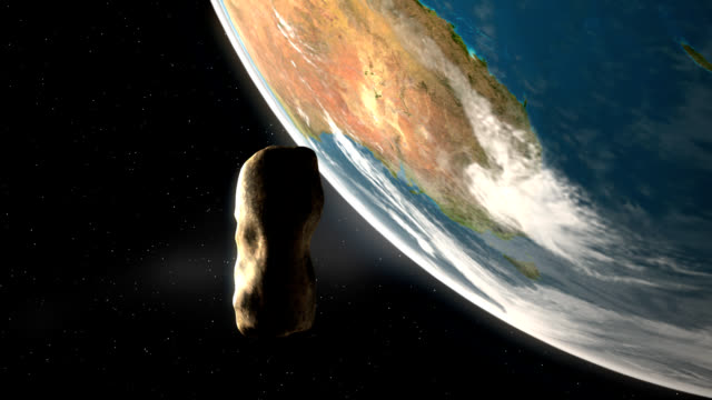 asteroid over earth – southern hemisphere - meteor stock videos & royalty-free footage