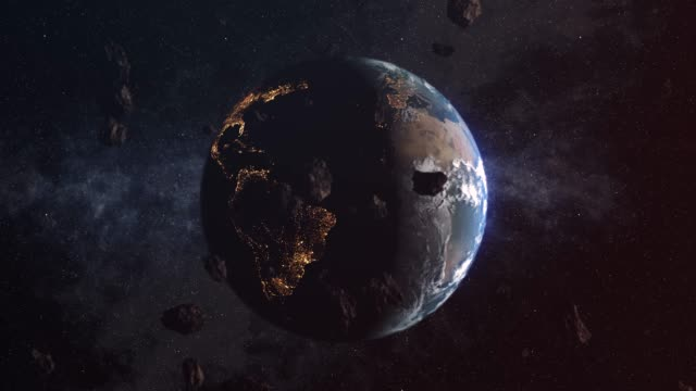vídeos y material grabado en eventos de stock de ducha de asteroides en la tierra - meteorito espacio