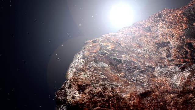 asteroid - meteor weltall stock-videos und b-roll-filmmaterial