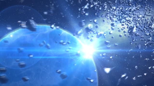 asteroids und das blue planet - unendlichkeit stock-videos und b-roll-filmmaterial