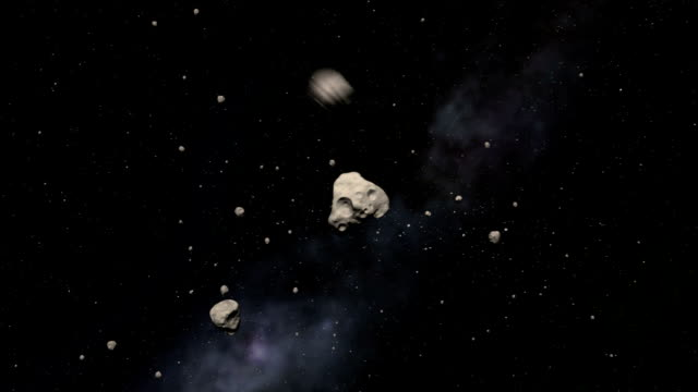 asteroids approaching earth - solar system stock videos & royalty-free footage