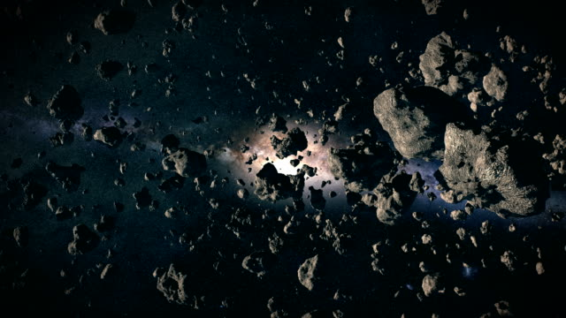 asteroids in space - nebula stock videos & royalty-free footage