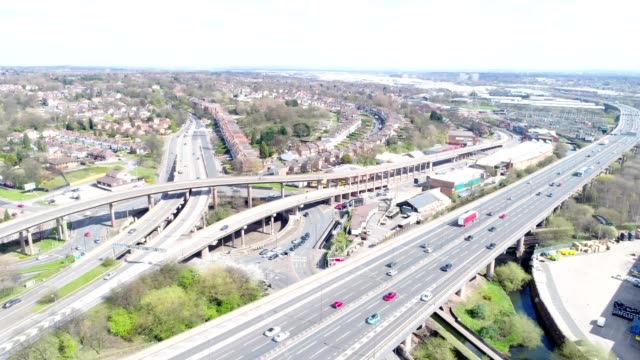aston expressway - west midlands stock-videos und b-roll-filmmaterial