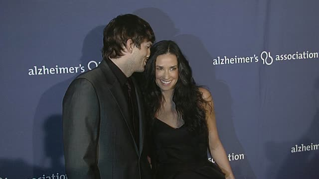 aston kutcher and demi moore at the 18th annual 'a night at sardi's' fundraiser and awards dinner at beverly hills ca. - ashton kutcher stock videos & royalty-free footage