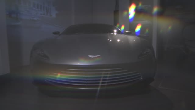 aston martin db10 at the cars of 'spectre' exhibition at the london film museum on november 17, 2015 in london, england. - the cars stock videos & royalty-free footage