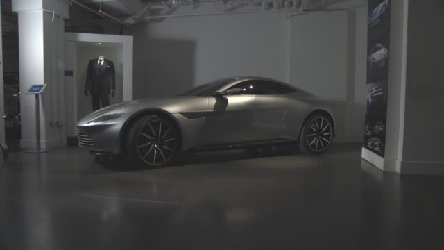atmosphere aston martin db10 at the cars of 'spectre' exhibition at the london film museum on november 17 2015 in london england - spectre 2015 film stock videos and b-roll footage