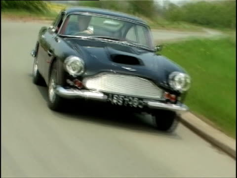 aston martin db4 - classic car stock videos and b-roll footage