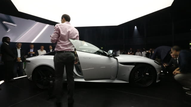 aston martin dbs legarra world premiere in london uk on tuesday june 26 2018 - car interior stock videos & royalty-free footage