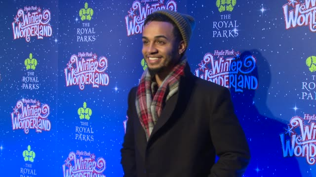 Aston Merrygold at Hyde Park Winter Wonderland on November 16 2017 in London England