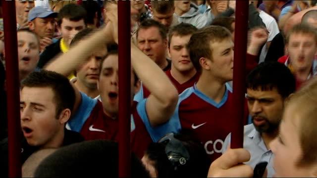 Aston Villa fans protest against potential new manager Alex McLeish ENGLAND Birmingham Villa Park EXT Aston Villa fans gathered outside Villa Park...