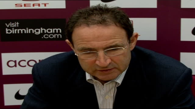 Stiliyan Petrov and Martin O'Neill press conference Martin O'Neill press conference SOT On likelihood of beating Chelsea FC at Stamford Bridge / On...
