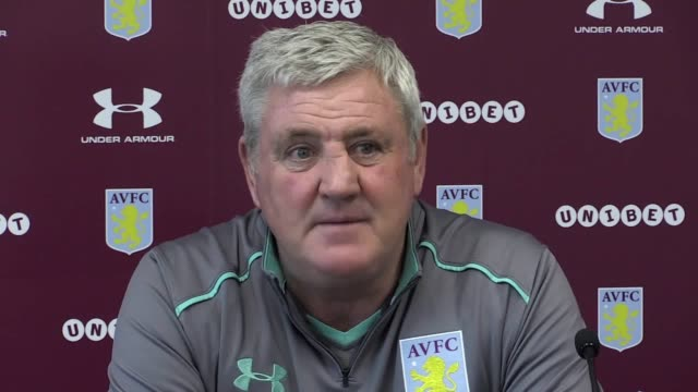 Aston Villa manager Steve Bruce speaks ahead of his side's Championship clash with Sheffield Wednesday