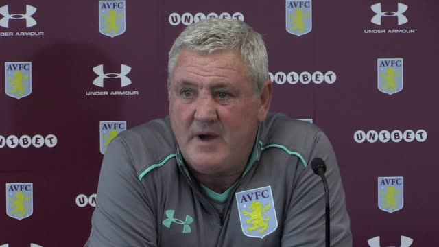 Aston Villa manager Steve Bruce speaks to the media ahead of his side's Championship fixture at home to Nottingham Forest