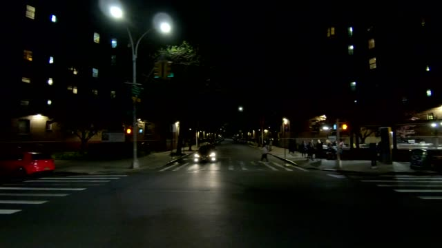 astoria queens xxxv synced series left side driving process plate - part of a series stock videos & royalty-free footage